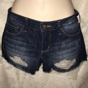 Jessica Simpson Distressed Denim Jean Shorts
